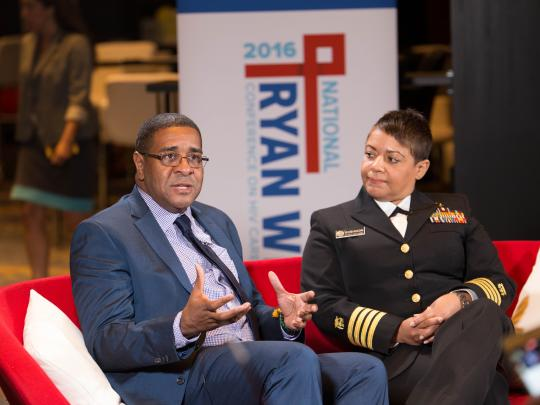 HRSA's Harold Phillips and Letitia Robinson