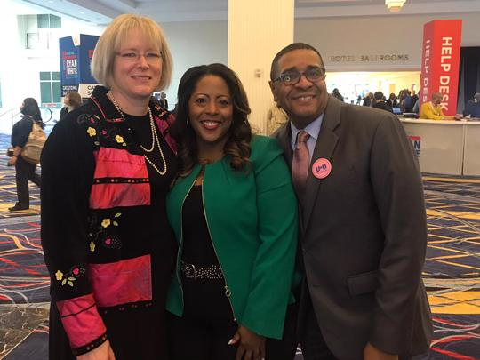 Dr. Laura Cheever and Harold Phillips with Kaye Hayes