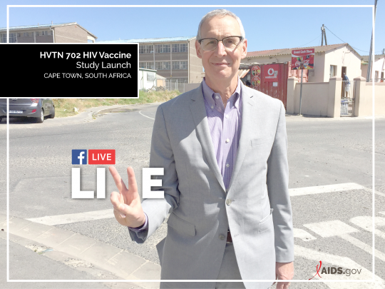 Dr. Carl Dieffenbach on Facebook Live from Cape Town, South Africa