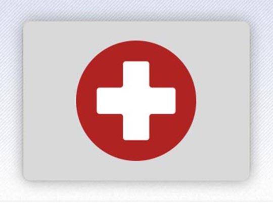 Image of a box with a red cross in the center.