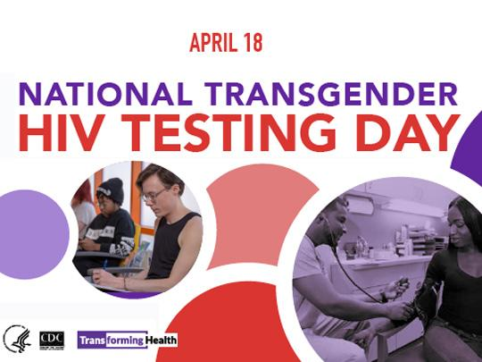 National Transgender HIV Testing Day - April 18