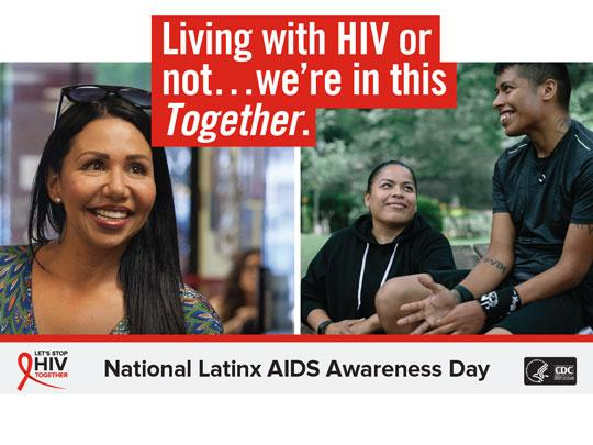 Two photos of Latinx people. Living with HIV or not...we