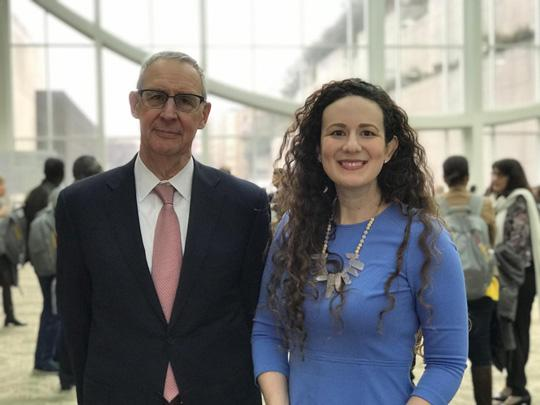 Dr. Carl Dieffenbach and Anne Rancourt at Day 3 of CROI 2019