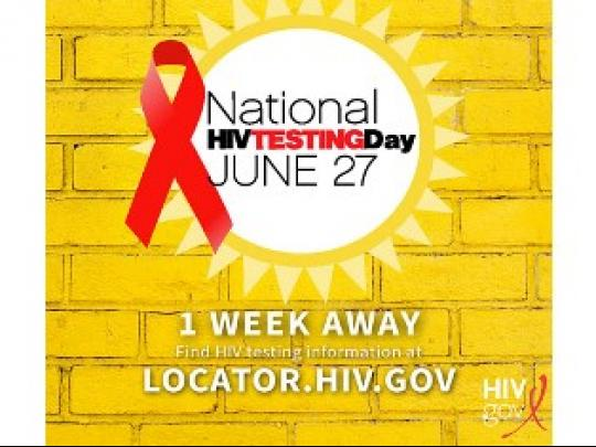 1 Week Away. Find HIV testing information at locator.hiv.gov