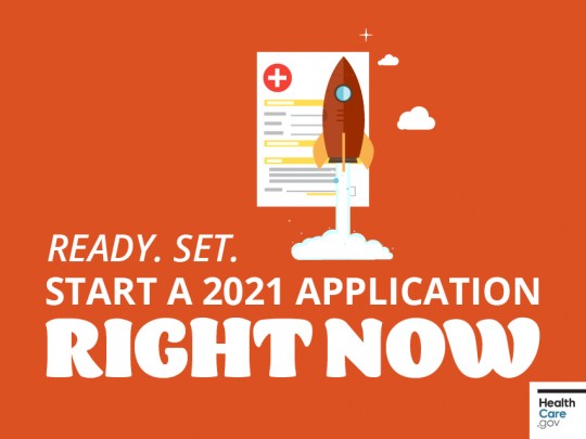 Ready. Set. Start a 2021 Application Right Now.