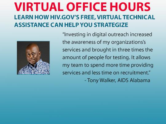 Virtual Office Hours: Learn how HIV.gov