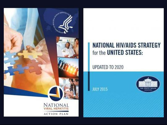 Cover for the National Viral Hepatitis Action Plan and the National HIV/AIDS Strategy for the United States