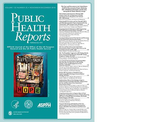 "Cover of Public Health Reports showing ""Let"