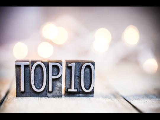 Cast metal typeface that says Top 10