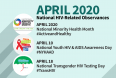 April 2020 National HIV-Related Health Observances