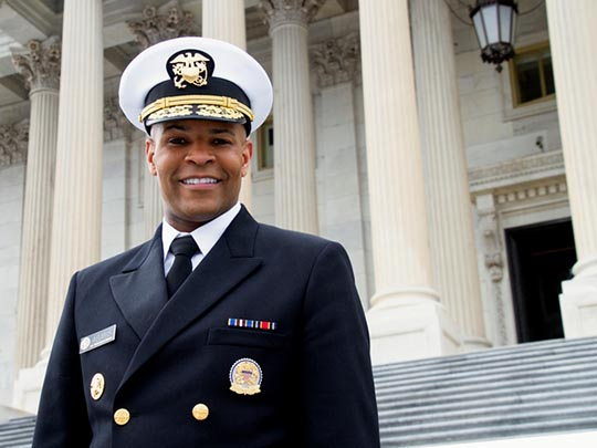 Image of of a man in uniform: U.S. Surgeon General Jerome M. Adams, M.D., M.P.H.