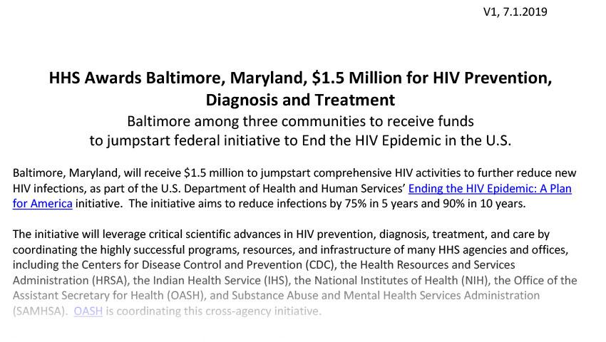 Baltimore, MD (PDF, 108 KB)