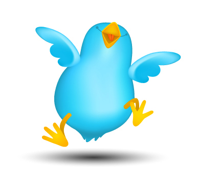 Happy Twitter bird