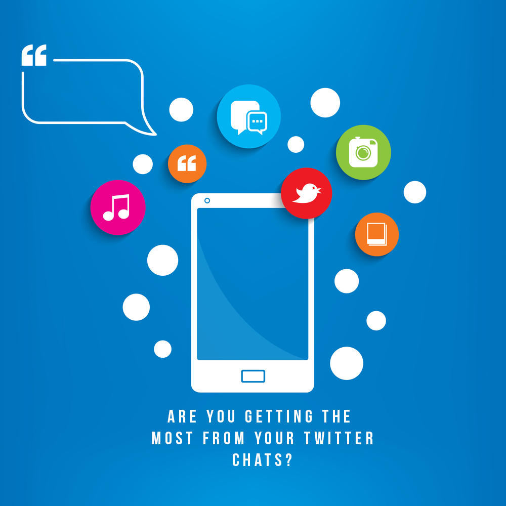 "Graphic featuring a tablet and the text: ""Are you getting the most from your twitter chats?"""