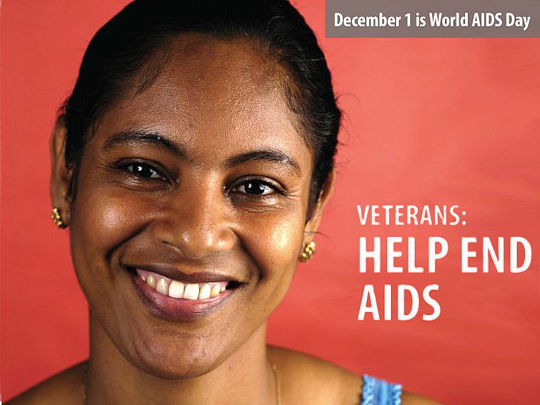Veterans help end AIDS 2
