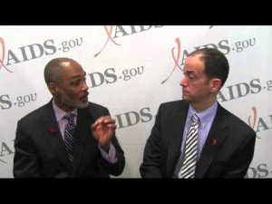 Phill Wilson and Miguel Gomez at AIDS 2012