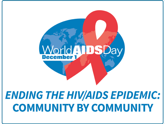 World AIDS Day Logo - Ending the HIV/AIDS Epidemic: Community by Community.